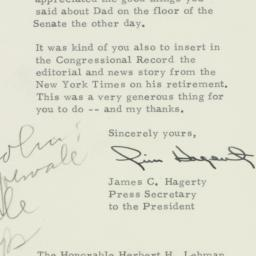 Telegram : 1954 July 7