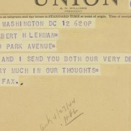 Telegram: 1944 April 12