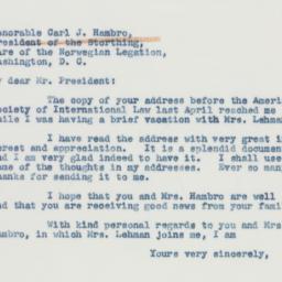 Letter : 1941 September 6