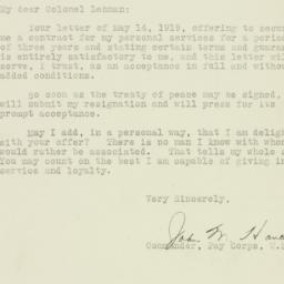 Letter : 1919 May 15