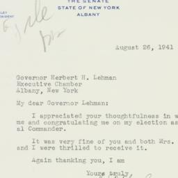 Letter : 1941 August 26