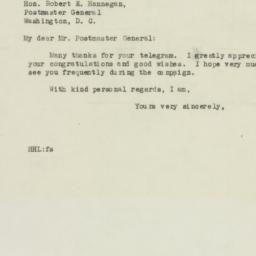 Telegram: 1946 September 19