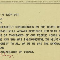 Letter: 1963 December 5