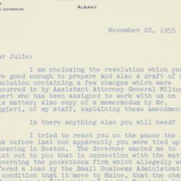 Invitation : 1955 November 22