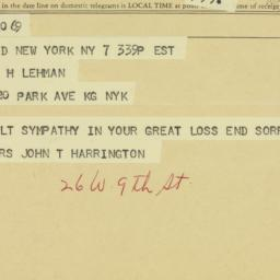 Memorandum : 1963 December 7