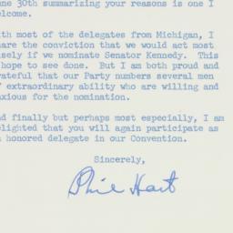 Letter : 1960 July 2