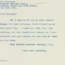 Press release : 1935 January 4