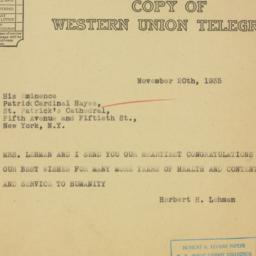 Letter : 1935 November 20