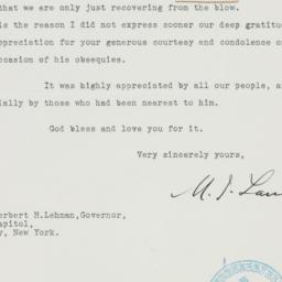Letter : 1938 October 11
