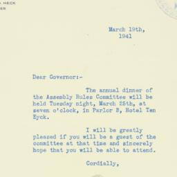 Letter : 1941 March 19