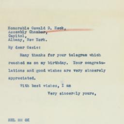 Telegram : 1941 March 31