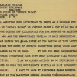 Telegram : 1941 September 30