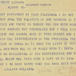 Telegram : 1941 October 1
