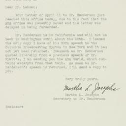 Letter : 1947 April 16