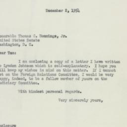 Letter : 1954 December 2