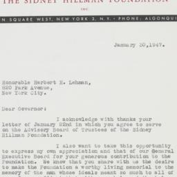 Letter : 1947 January 30