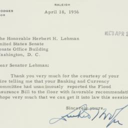 Memorandum : 1956 April 18