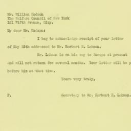Letter : 1926 May 26