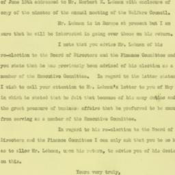 Letter : 1926 June 22