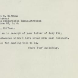 Letter : 1948 July 12