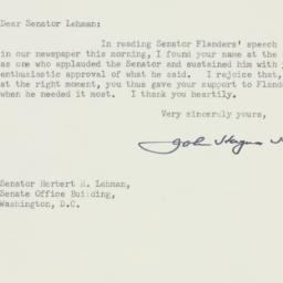 Letter : 1954 March 10