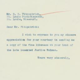Letter : 1935 March 22