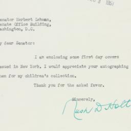 Letter : 1951 November 29