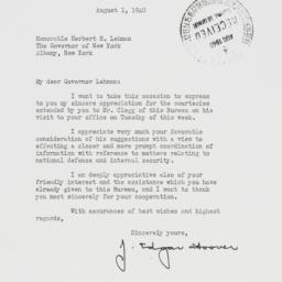 Letter: 1940 August 1