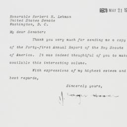 Letter: 1951 May 17