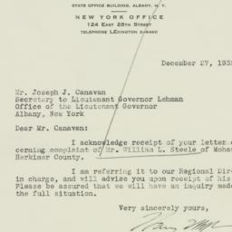 Letter: 1932 December 27