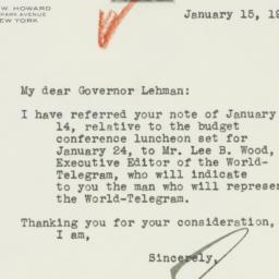 Telegram : 1941 January 15
