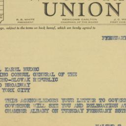 Letter: 1941 February 21