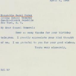 Telegram: 1942 April 2