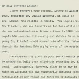 Letter : 1935 August 31