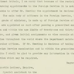 Letter : 1935 October 14