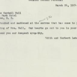 Document : 1954 March 26