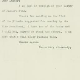 Letter : 1952 January 28