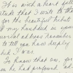 Letter : 1954 November 22