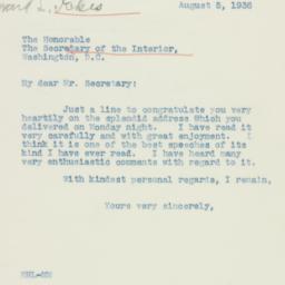 Letter : 1936 August 5