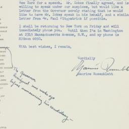 Letter : 1949 September 22
