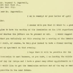 Letter: 1926 April 5
