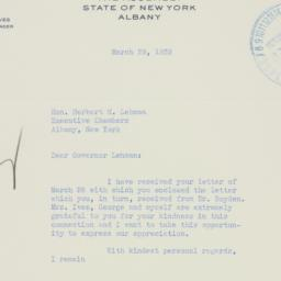 Letter : 1939 March 29