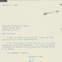 Letter : 1952 November 8