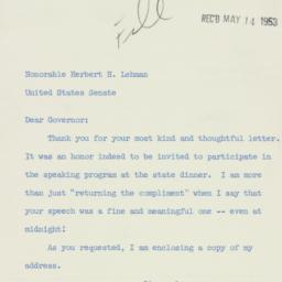 Letter : 1953 May 12