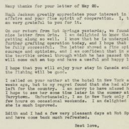 Letter : 1945 June 6