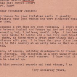 Letter : 1945 January 11