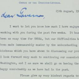 Letter : 1945 August 25