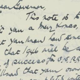 Letter : 1945 December 24