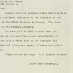Letter: 1947 July 23