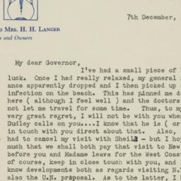 Letter: 1947 December 7
